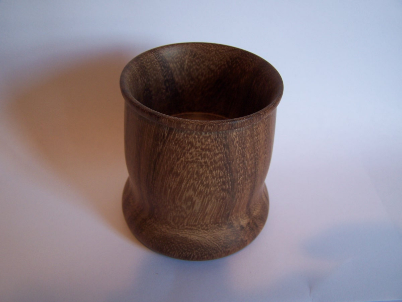 Rosewood ring cup.