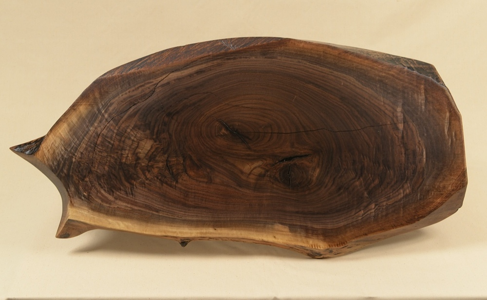 Top View of Walnut Slab table top