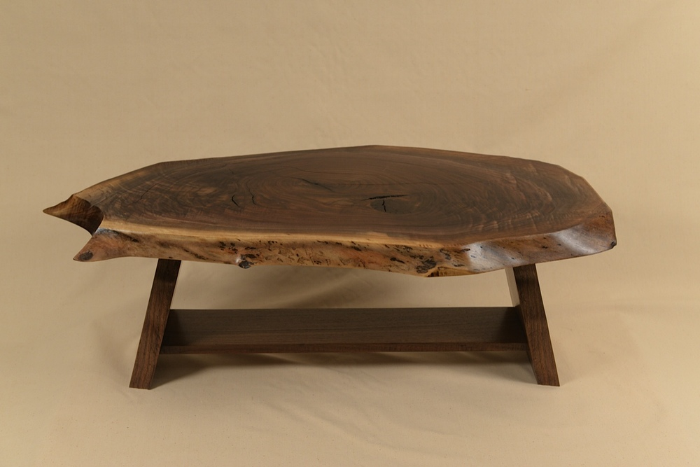 Rustic Table built of walnut slabs by George Wurtzel.  Photo by Sean Smuda