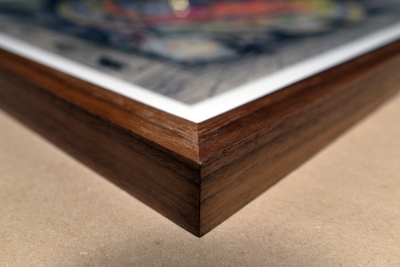 Walnut frame built for artwork by Sean Smuda.  Photo Sean Smuda