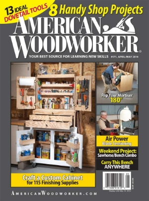 Cover of American Woodworker Magazine april/May 2014