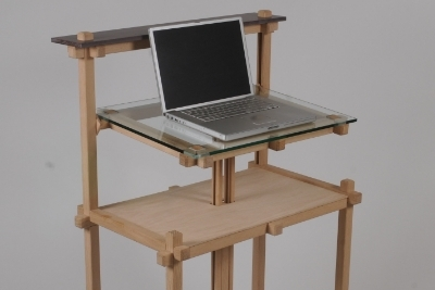 Standup Adjustable- Height Computer Desk - Arts & Crafts Style -