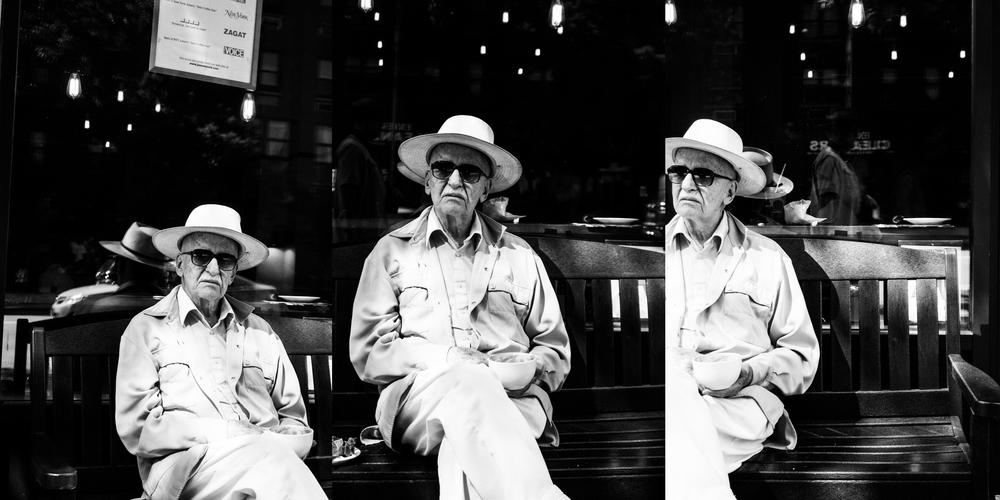 Man Drinking Coffee, New York City, 2015