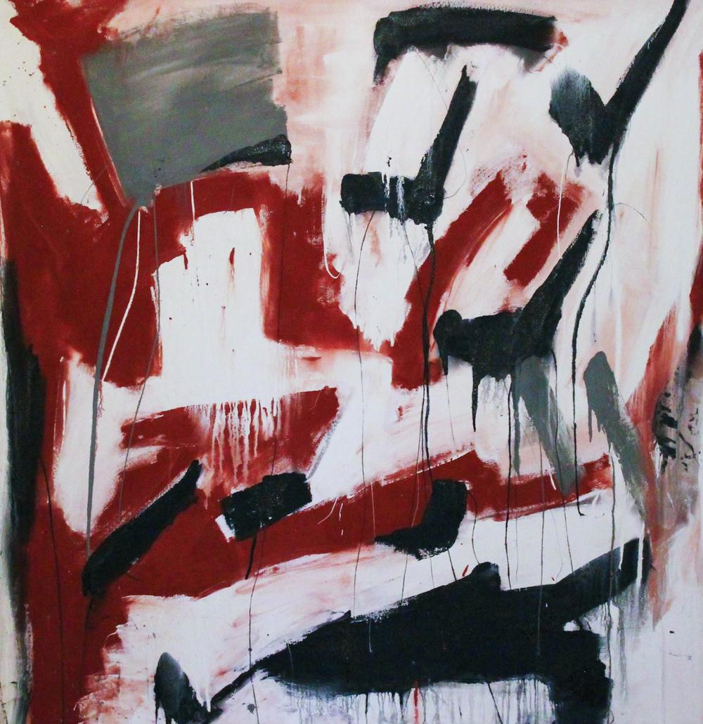 Raven, Desert Emptiness, 2013, Latex on Canvas.