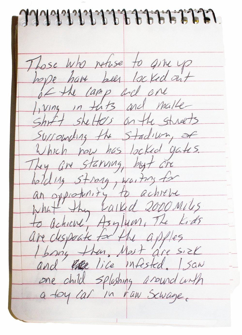 Notes from Benito Juarez Sports Complex, Tijuana, Mexico