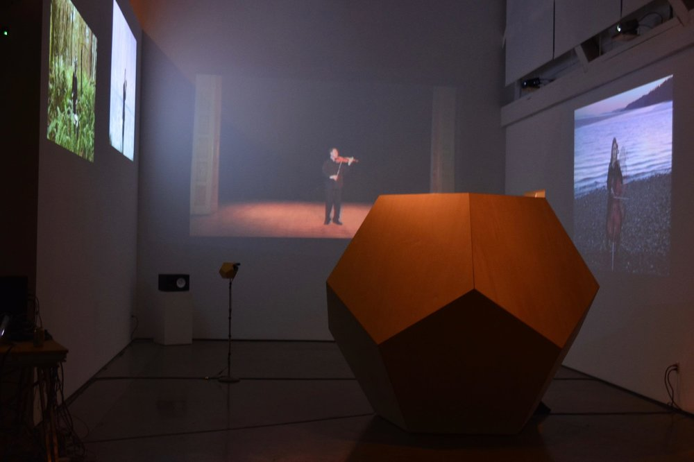 "Gallery view of ""i am the shadow of the image of my person"", created by artists-in-residence James Borchers and Jérémy Jolley."