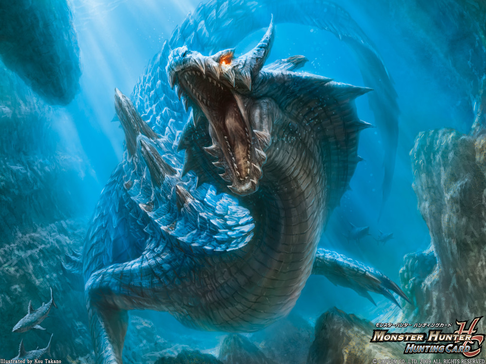 The sea-wyvern Lagiacrus from the  Monster Hunter  series of games.