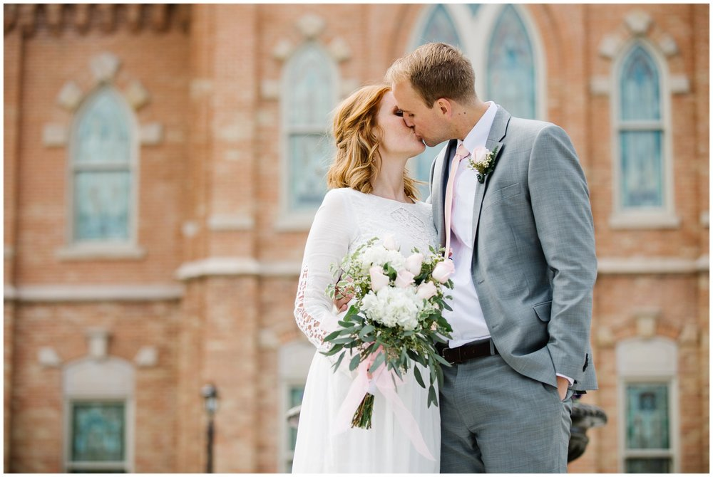 Jamie Tervort Photography, Bronwen and Romney Wedding, Provo City Center Temple, UT, Utah Wedding Photographer, Anthropologie Dress