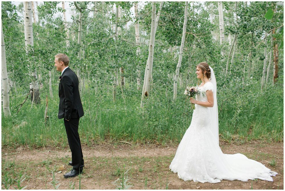 Jamie Tervort Photography | Kayli and Nathan | Payson Canyon, Utah Formals, Bridals | First Look