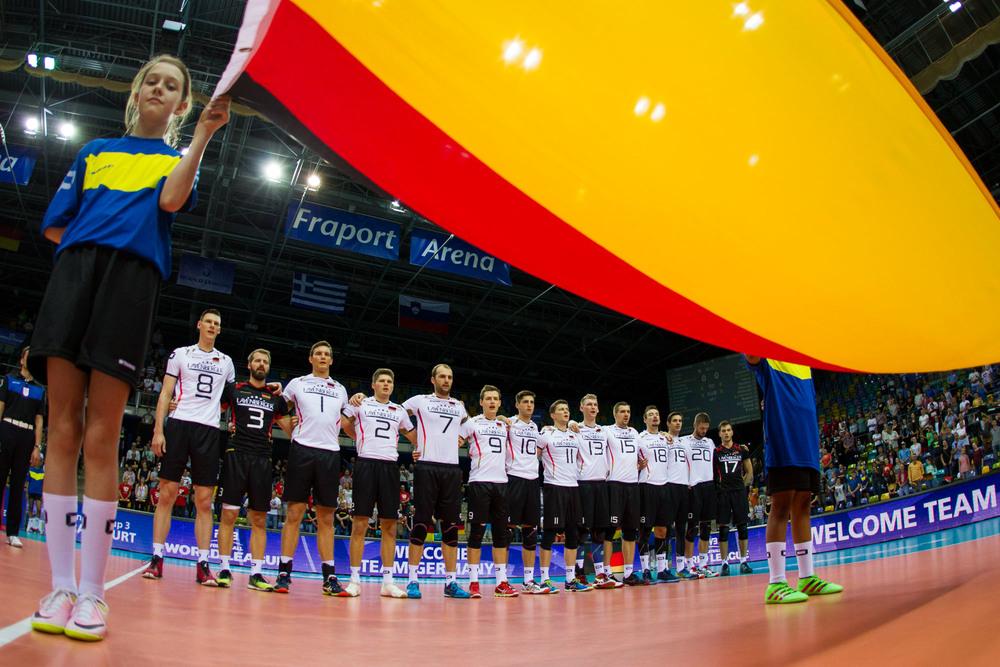 DVV-Herren singen die Nationalhymne bei der World League 2016