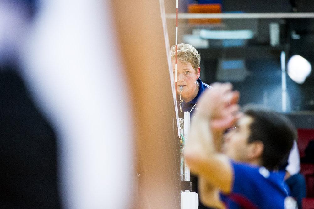 Daniela Klotz ist Bundesliga Schiedsrichterin; 2. Volleyball Bundesliga: TSV GA Stuttgart vs FT 1844 Freiburg, SCHARRena, Stuttgart , 20161120; Foto: Wuechner/Eibner Pressefoto
