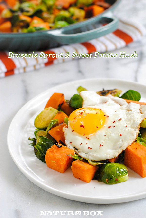 Brussels Sprout & Sweet Potato Hash