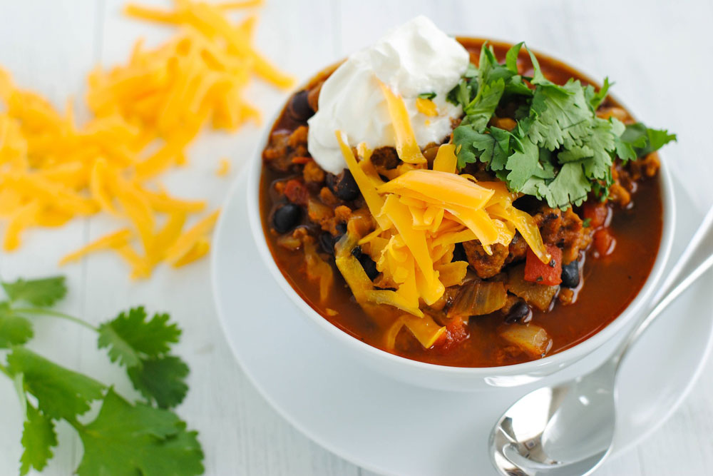 "Vegetarian ""Chorizo"" & Black Bean Chili"