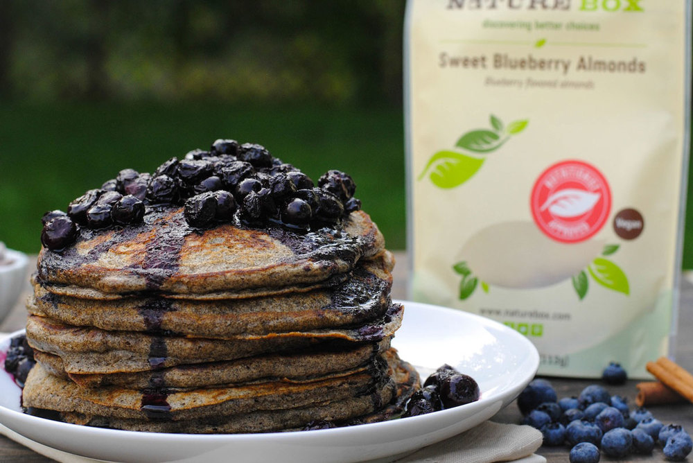 Blueberry Almond Pancakes