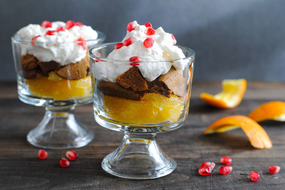 Pomegranate, Orange & Gingersnap Parfaits