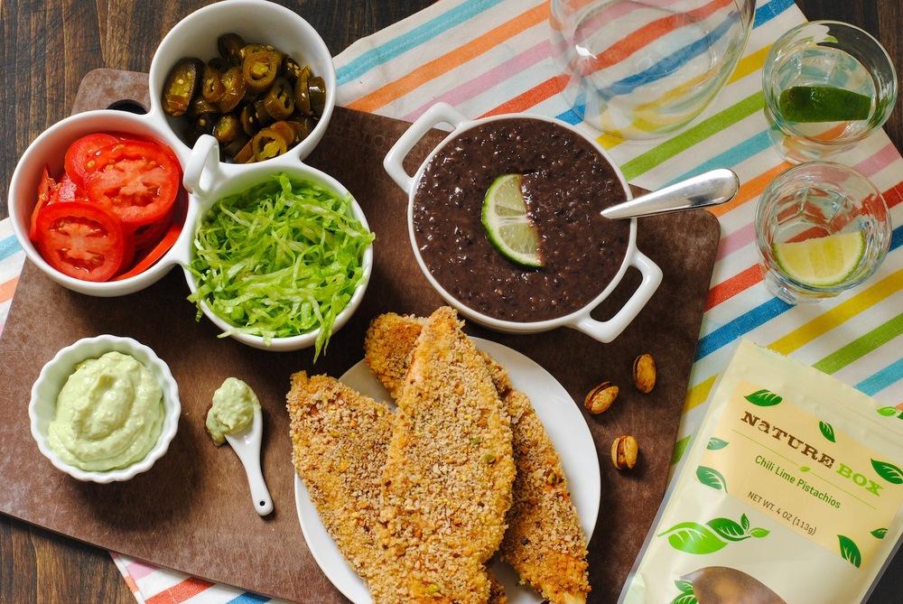 Pistachio-Crusted Chicken Tortas