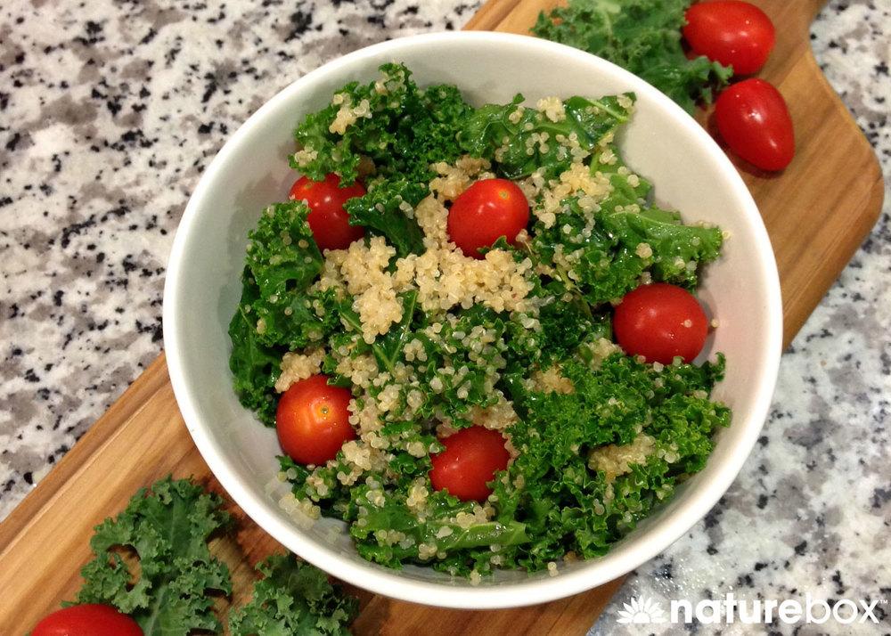 Simple Kale-Quinoa Salad