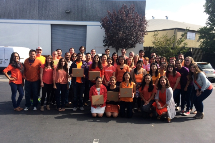 Team NatureBox dons the color orange in support of Hunger Action Month!