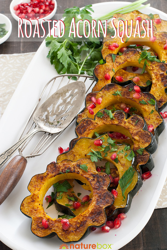 3 Step Recipe Roasted Acorn Squash With Pomegranate