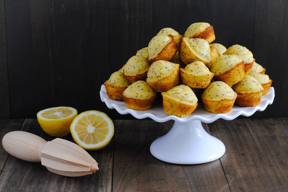 Lemon Poppyseed Mini Muffins