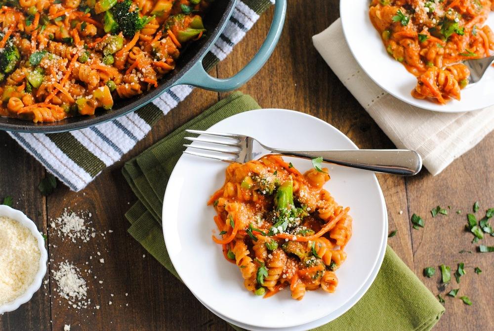 Quick Vegetable Pasta Skillet