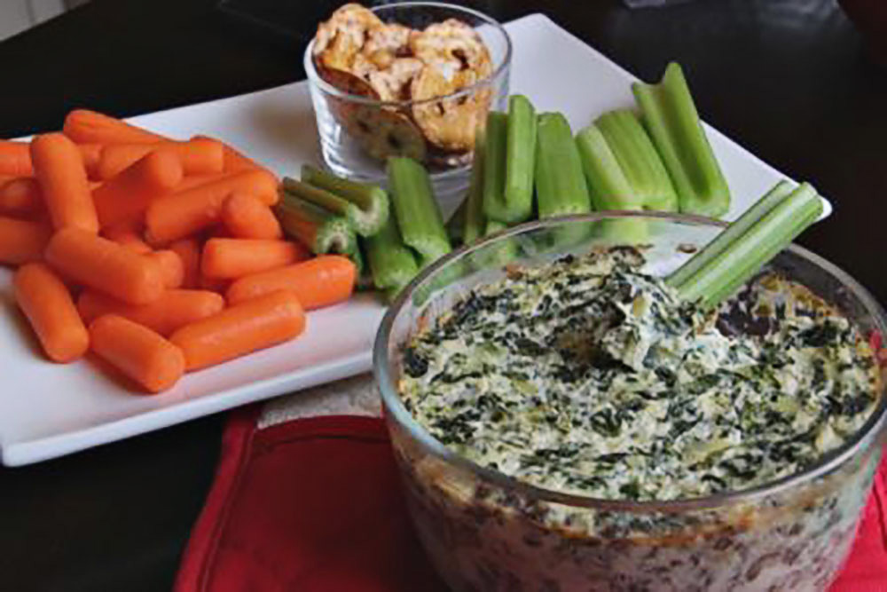 Lightened-Up Spinach and Artichoke Dip