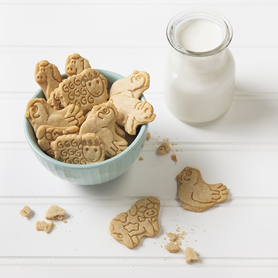 Whole Wheat Vanilla Animal Cookies