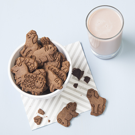 Whole Wheat Chocolate Animal Cookies