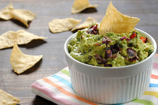 Roasted Red Pepper & Onion Guacamole