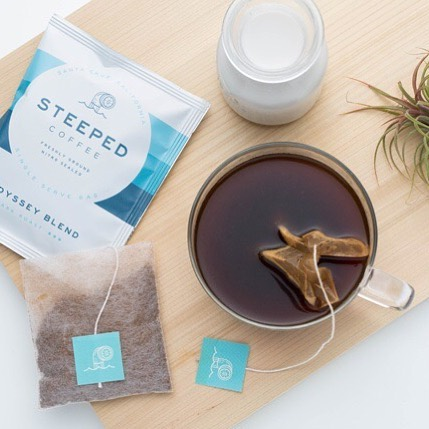 Steeped coffee? Yep! Specialty @steepedcoffee locally roasted in small batches and delivered in fully compostable, nitro sealed packets for optimal freshness.  Perfect for the afternoon slump. Give it a try via the link in or bio and let us know what you think!