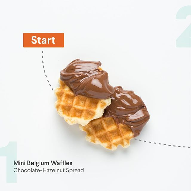 #snackhack  Welcome to our new series! Our snacks + creativity = #snackhack  First up-- Our delicious Belgian Waffles + Chocolate-Hazelnut Spread!  Have a hack of your own? Be sure to tag us and use #snackhack for a chance to be featured in our new highlights section!