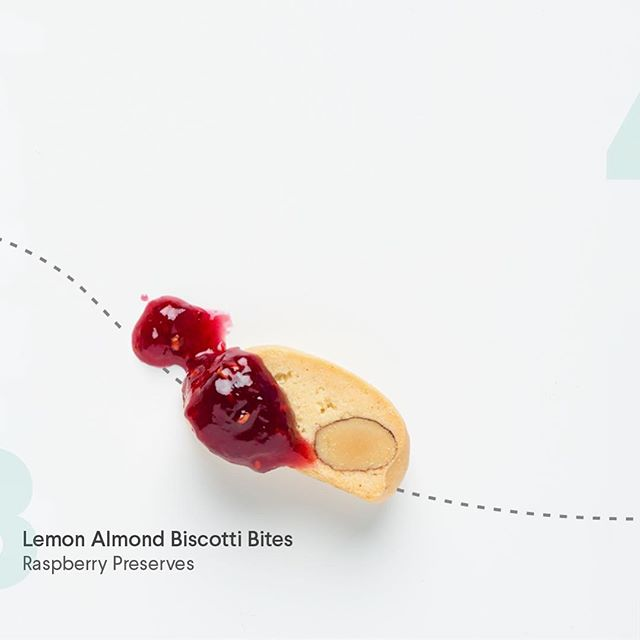 Need a Monday pick-me-up!? Wave those Monday blues goodbye- Our #snackhack features Lemon Almond Biscotti Bites+Raspberry Preserves.  You're welcome in advance!
