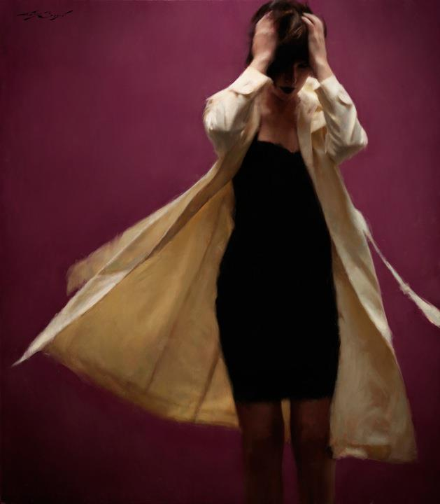 """Cloaked"" 50x54 oil on canvas"