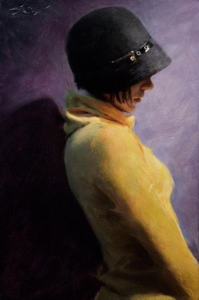 """Black Hat"" 16x24 oil on canvas"