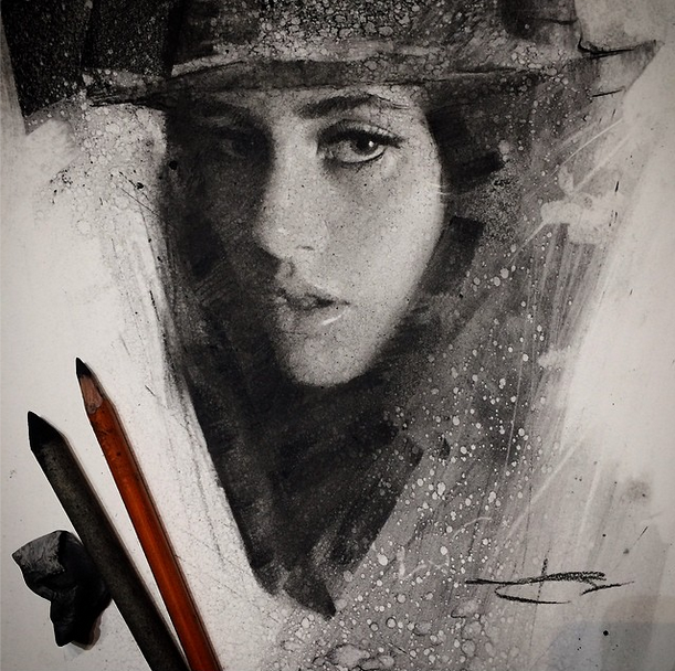 Beautiful Charcoal Drawings on Paper by Casey Baugh #artpeople