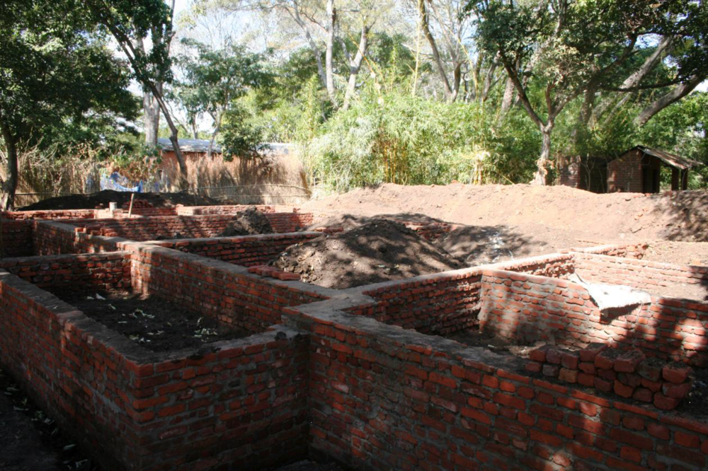 The foundation for the second teacher's residence.