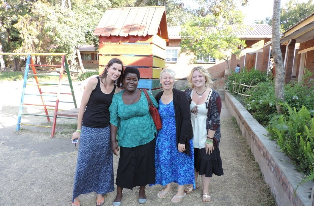 Chisomo & Ruby (middle) at Ebenezer School