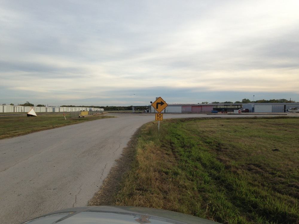 (3) Drive all the way into the airport, past the runway until you get to this RIGHT TURN.