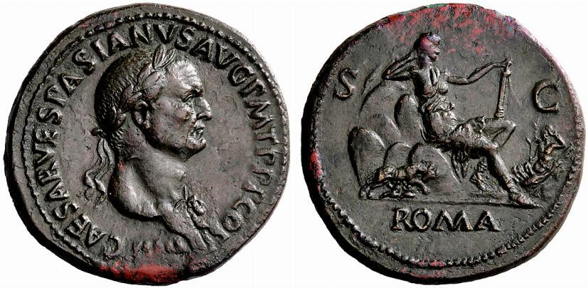 Coin featuring Roma