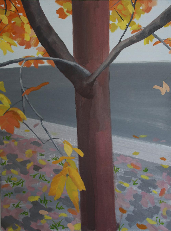 Autumn Street, 92 x 69cm, oil on canvas,2017.jpeg