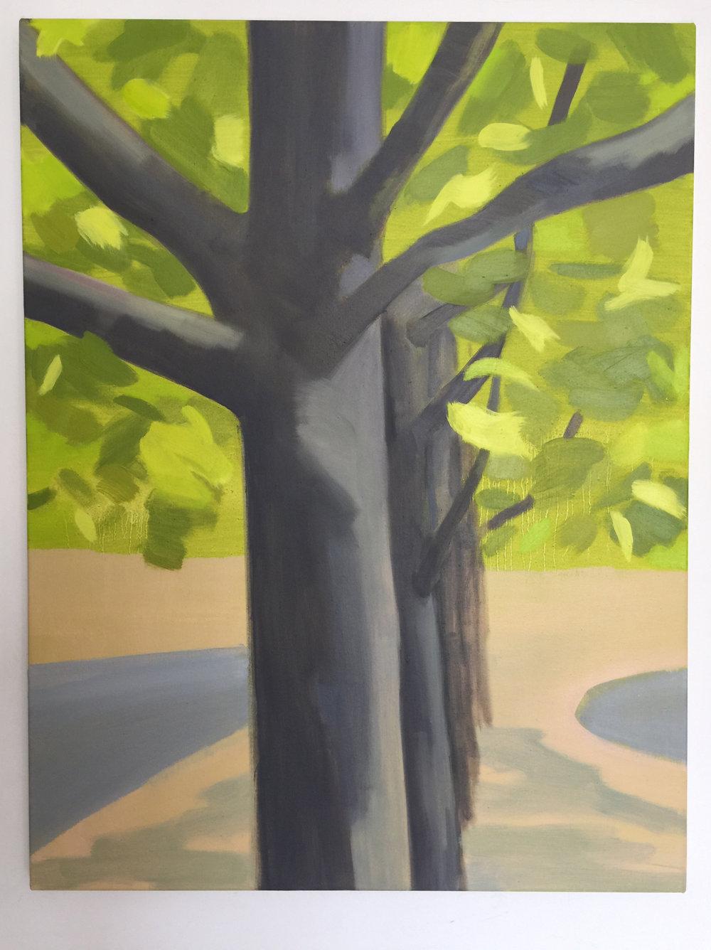 Spring Avenue, 87.5 x 66cm, oil on canvas, 2017.jpeg