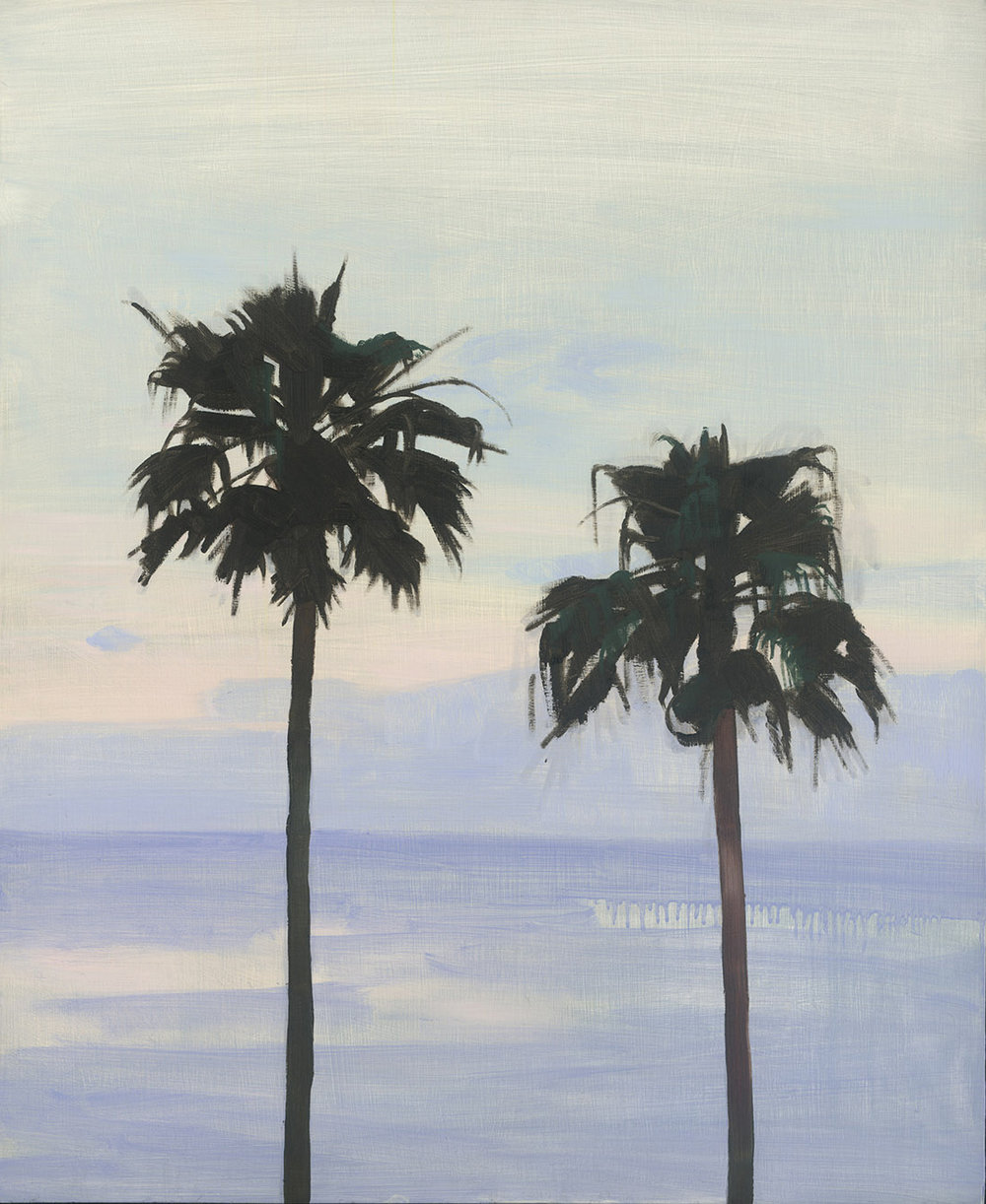 Two Palms at Dusk, oil on board, 72 x 59 cm (sold)