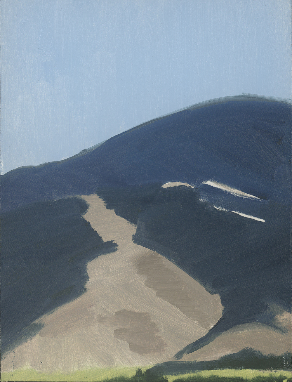 Mountain and Sky, oil on linen, 37x27.5 cm (sold)