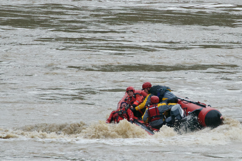 December 12th, 2014.  Forestville Fire Department practicing their swift water rescue skills below Hacienda Bridge on the Russian River.