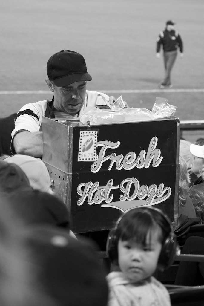 Hot Dog Vendor, 2014 World Series, San Francisco, CA AT&T Park