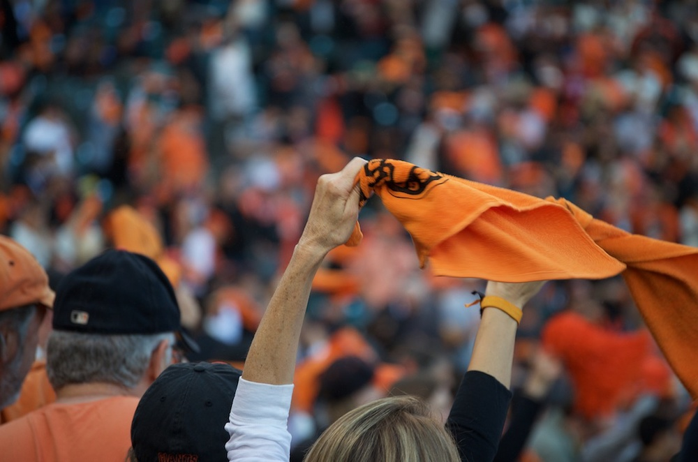 Rally Towel, World Series Game 4, 2014, AT&T Park, San Francisco, CA