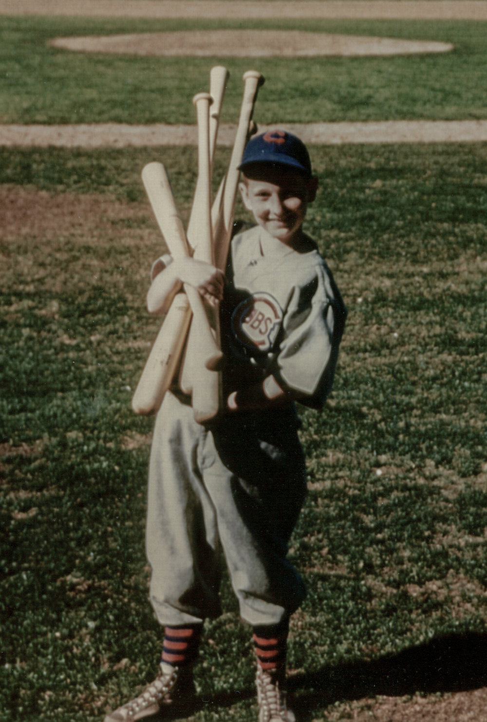 My Dad, 1944 or 45?  We believe my Grandmother took the image of him in Arizona, Spring Training, Chicago Cubs.  A memory for forever if we make it happen!