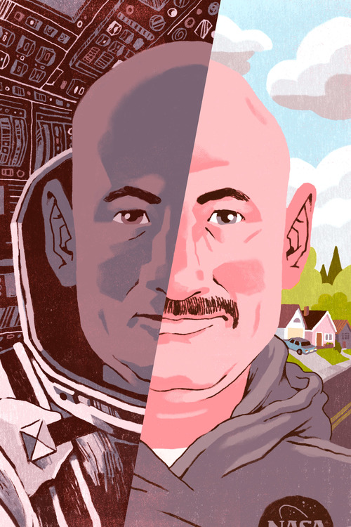 NASA Twin Study  Self-directed Illustratation