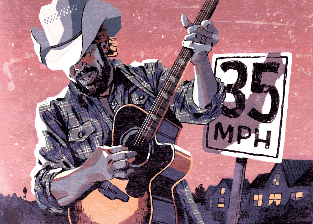 Toby Keith Editorial Illustration for NASH Country Weekly
