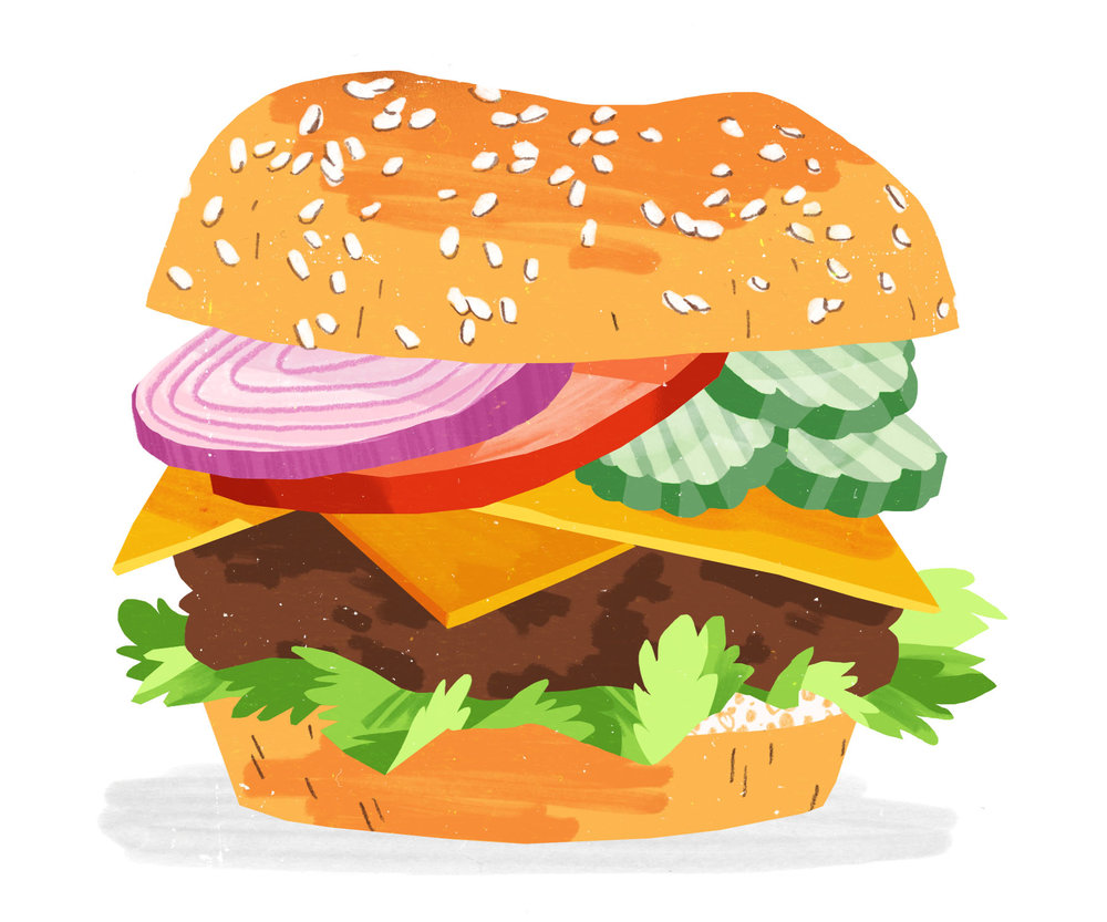 Classic Burger  Self-directed Illustration